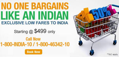 Makemytrip Exclusive Low Airfares to India starting from $499